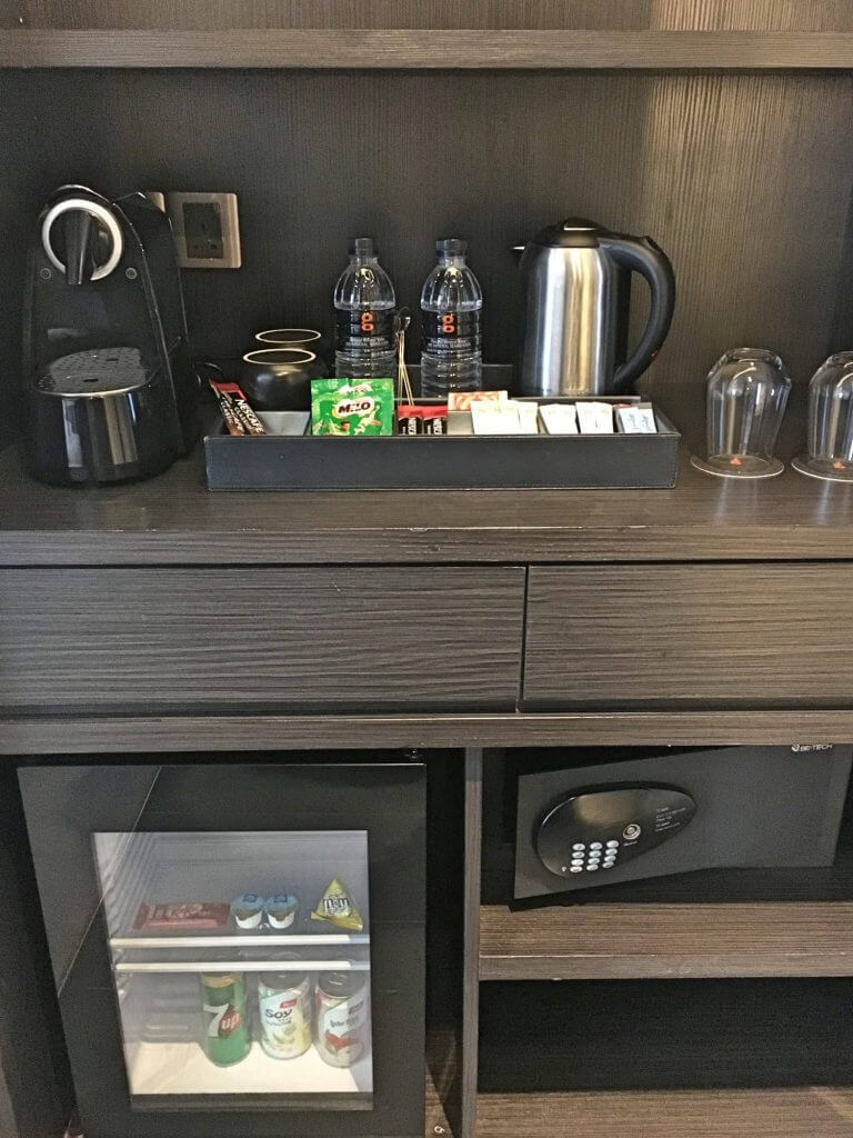 Complementary mini bar and tea/coffee making facilities