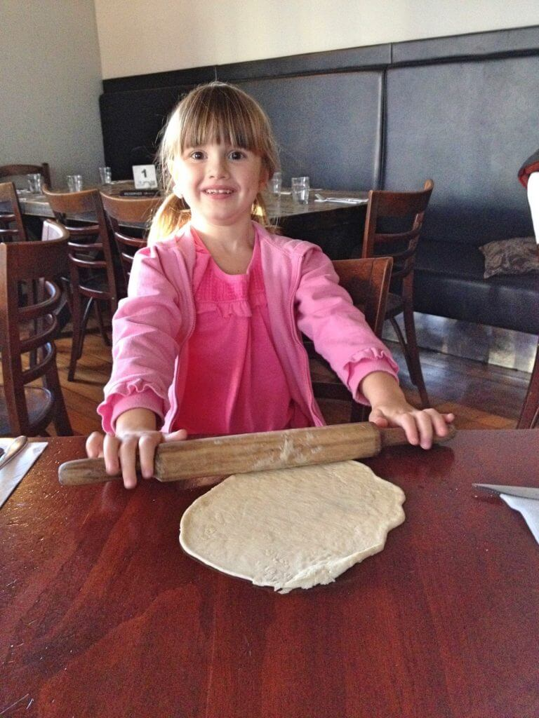 Rolling dough at Archie's Pizzeria Newmarket Auckland