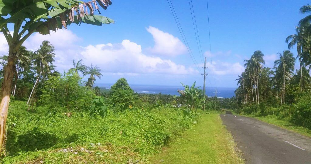 Beautiful scenery on the Cross Island Road, Upolu, Samoa