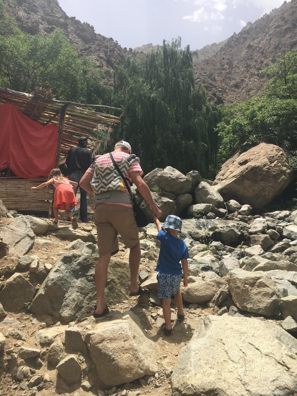 Atlas mountains with kids