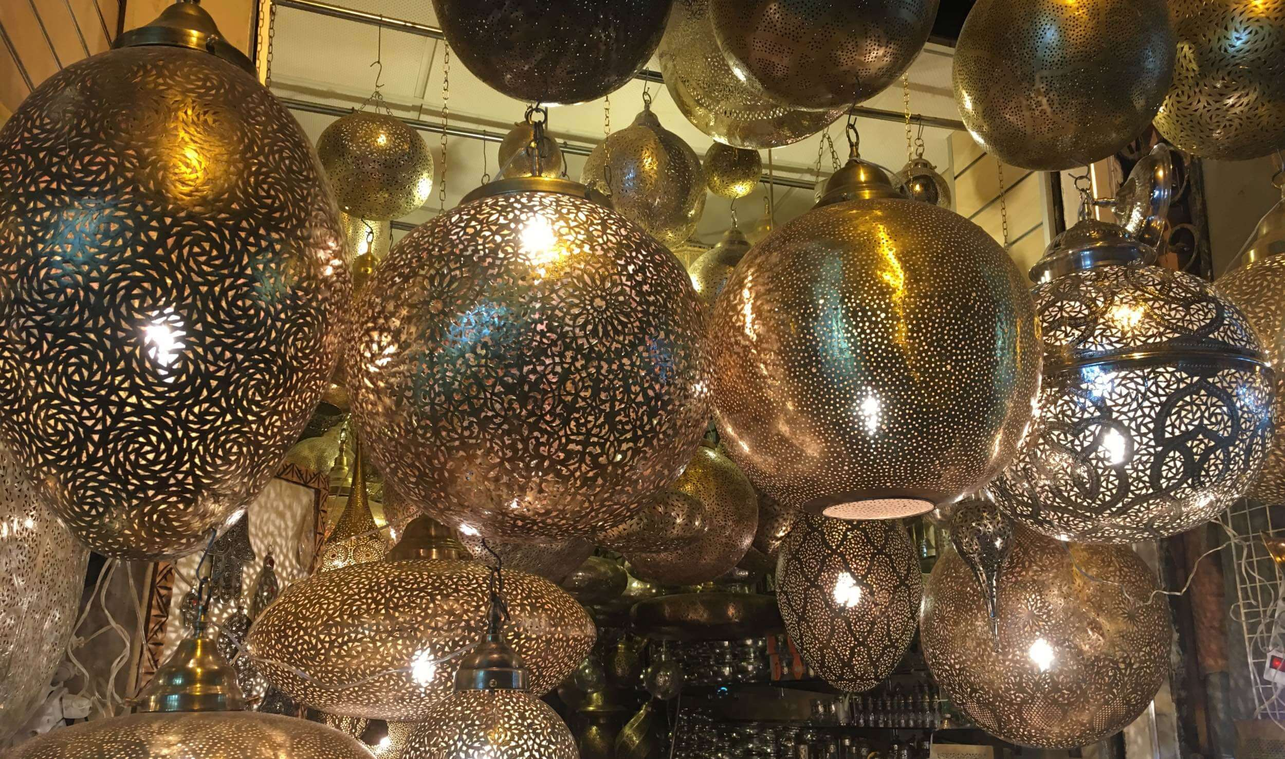 Beautiful lights from the Marrakesh souk