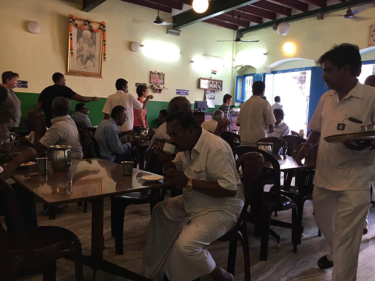 The fabulous Indian Coffee House in Pondicherry
