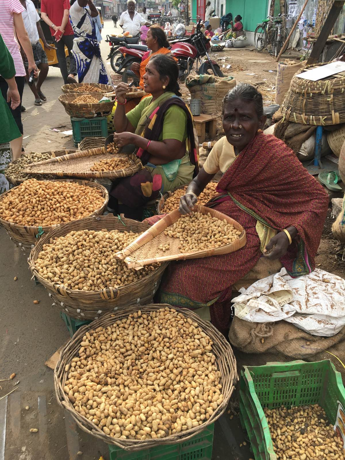 Nut sellers at Madurai Market