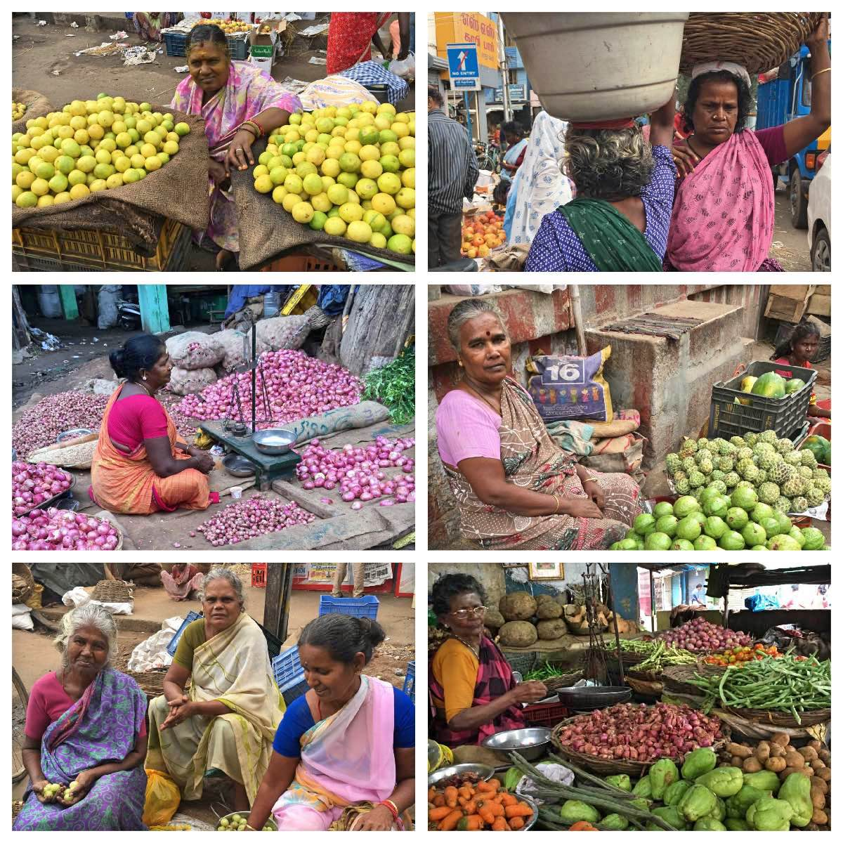 The ladies of Madurai Market