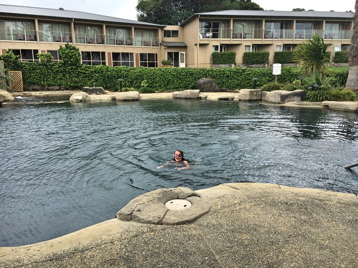 The fabulous pool at the Copthorne Hotel and Resort in Waitangi