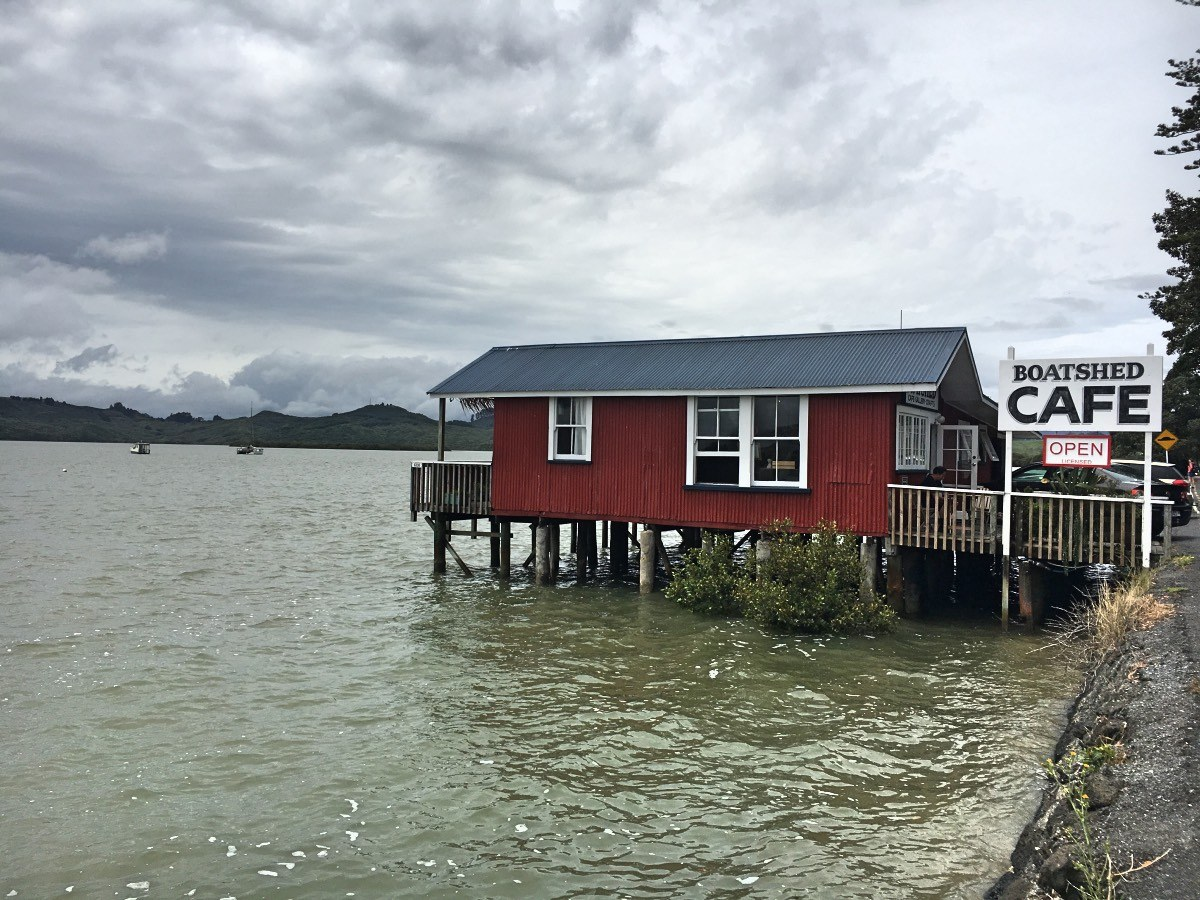The Boatshed Cafe in Rawene