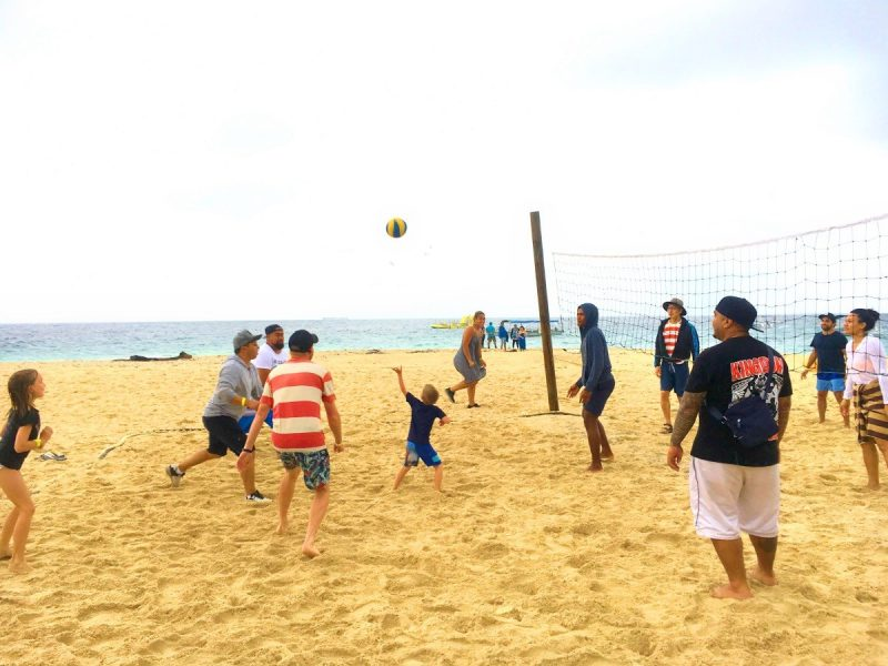 Beach volleyball at South Sea Island