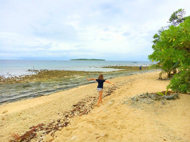 Beachcombing at South Sea Island