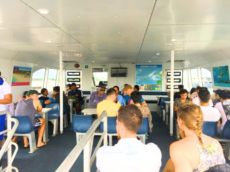 Inside South Sea Cruises' catamaran