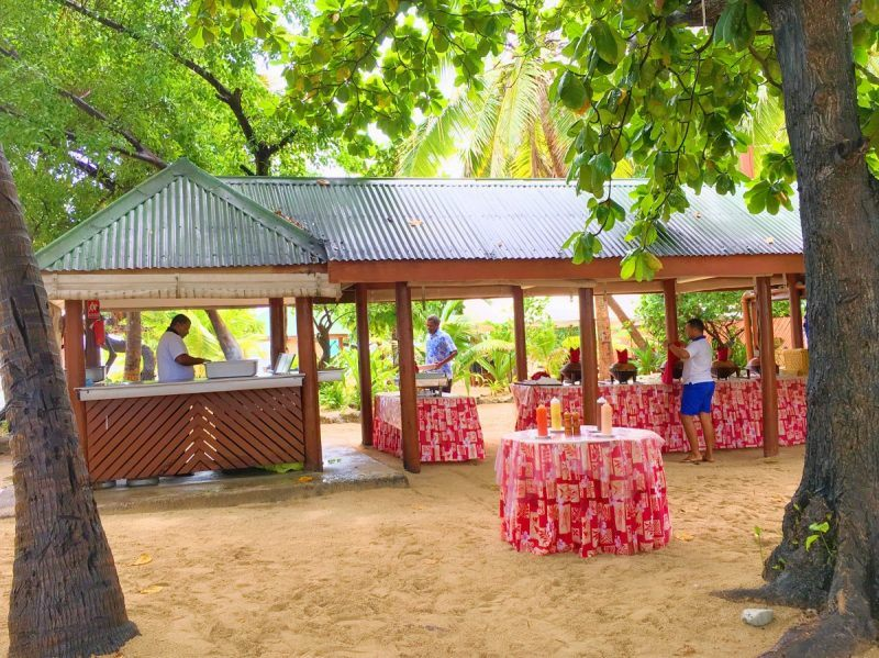 lunch at south sea island fiji