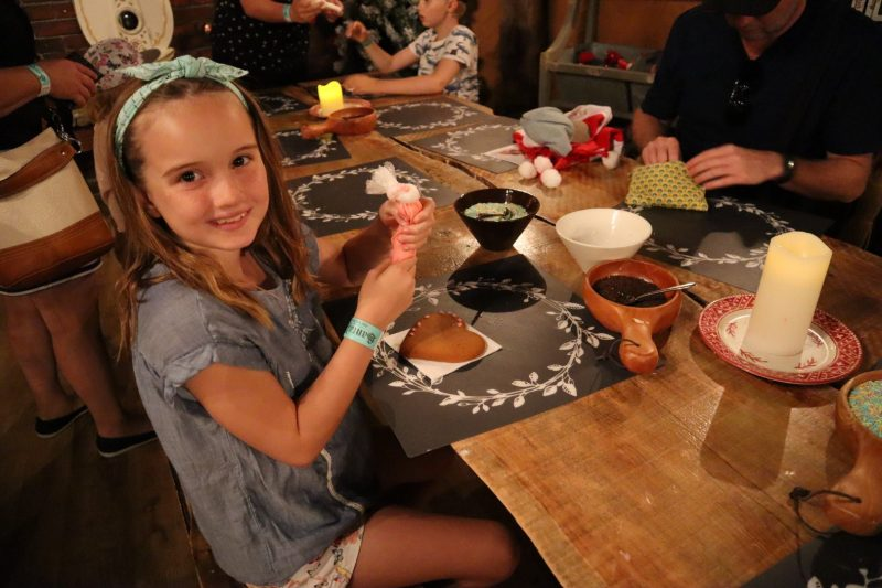 Cookie decorating at Mrs Gingerbread's House