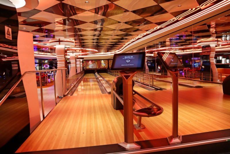 MSC Seaview bowling alley