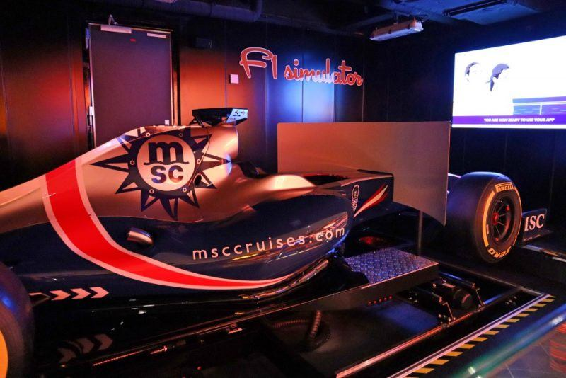 Formula One simulator on MSC Seaview