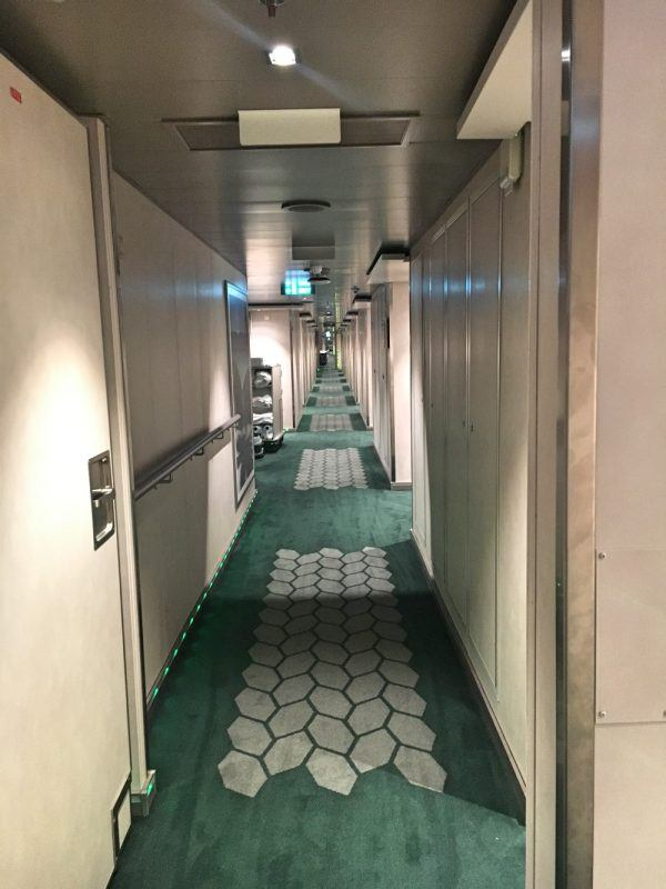 These massive cabin corridors on MSC cruises Europe can sometimes be confusing!