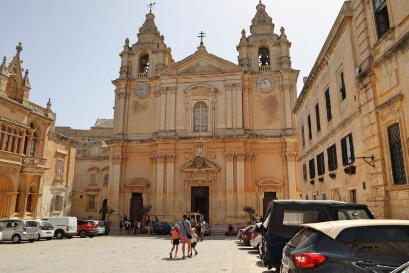 Mdina Cathedral MSC cruises Malta