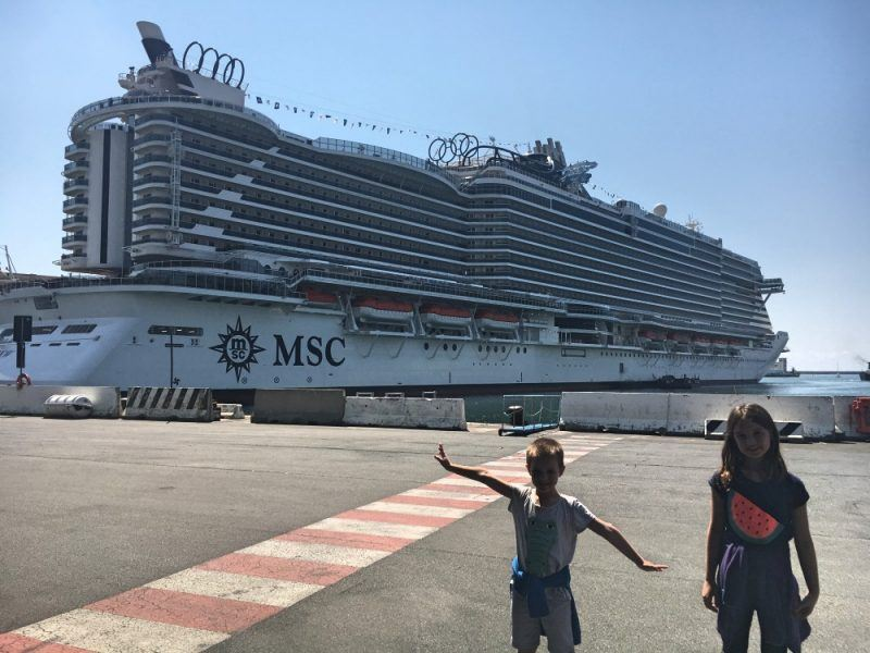 Mediterranean Shipping Company massive Seaview cruise ship