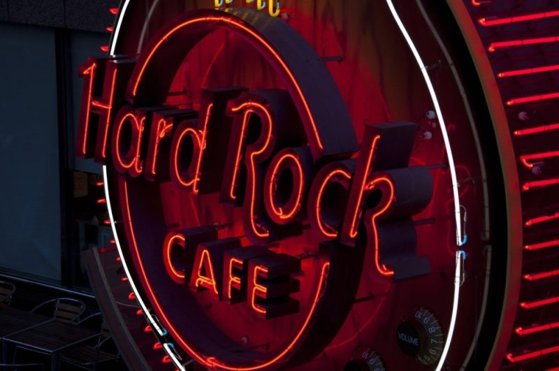 The Hard Rock Cafe is right next door to the Concorde Hotel Kuala Lumpur