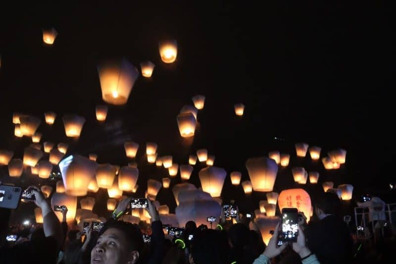 Pingxi Sky Lantern Festival is top Taiwan Taipei attractions
