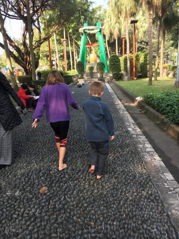 The stone footpath is a fun idea if you're looking for what to see in Taipei