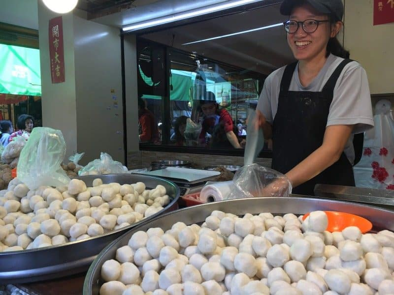 Trying fishball soup is a must do in Taipei!