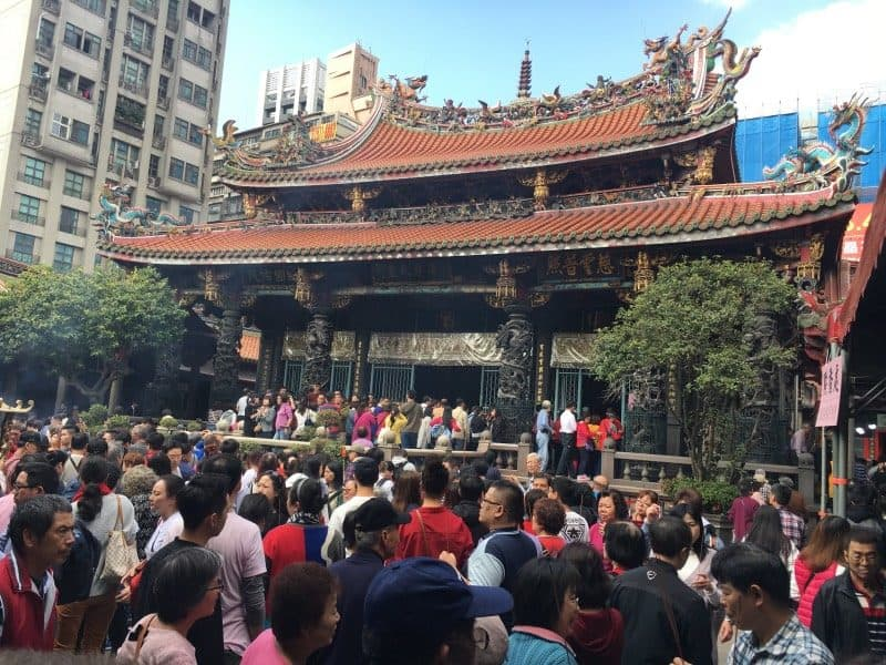 Visiting Longshan Temple is a must do in Taiwan